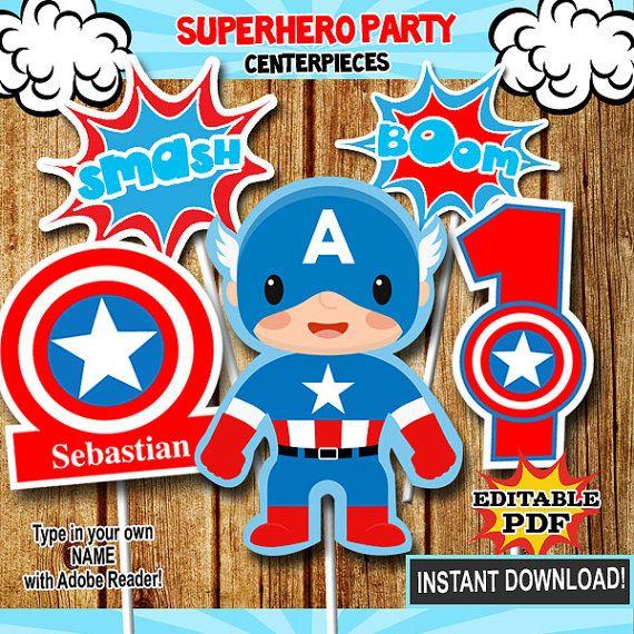 Centro De Mesa Capitán América: Más De 25 Ideas Increíbles Sobre Invitaciones De Capitan