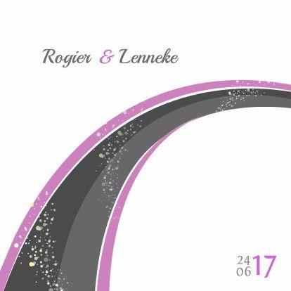 Witte regenboog trouwkaart - Trouwkaarten - Kaartje2go