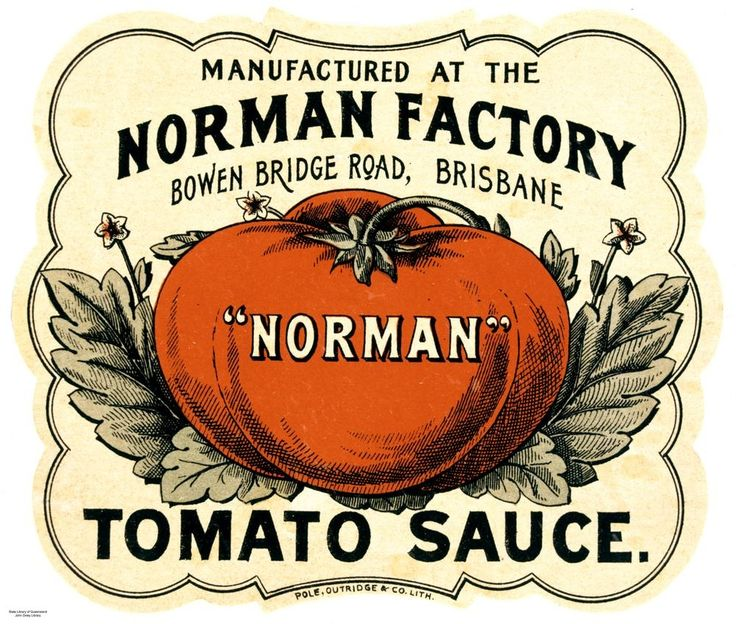 Norman Tomato sauce label, Brisbane