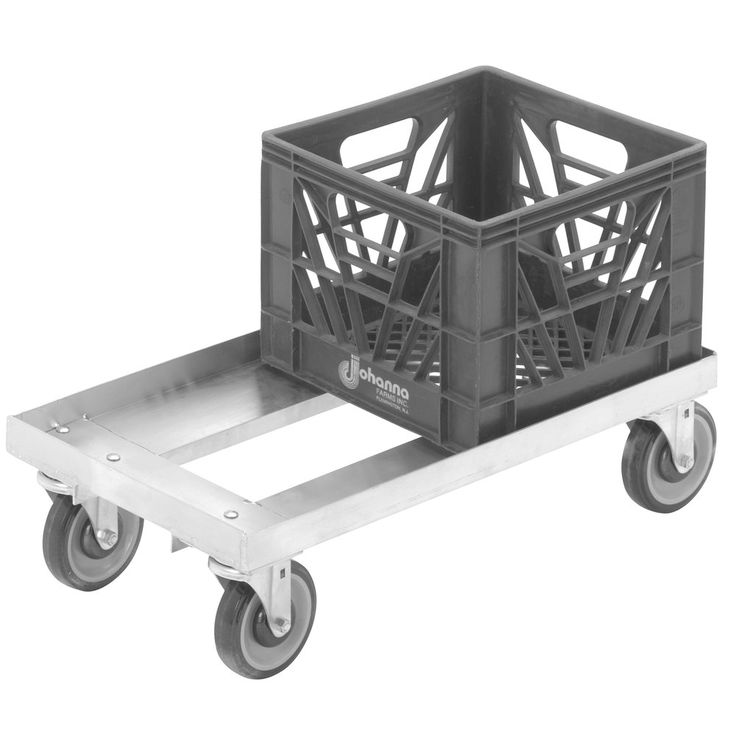 """Channel MC1326 13"""" x 13"""" Milk Crate Dolly - 2 Stack Capacity"""