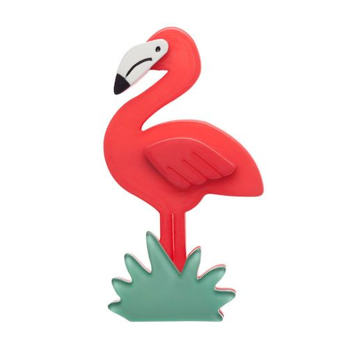 Erstwilder-'Flamboyant Pink Flamingo' Brooch *FREE GIFT- *DISCOUNTS APPLY!