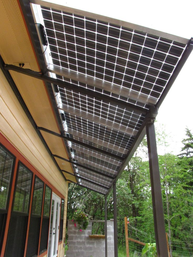 Solar awning More #renewableenergy