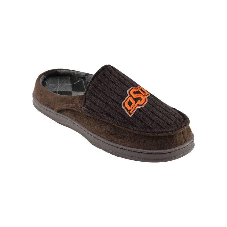 Oklahoma State Cowboys Men's Slippers, Size: Medium, Brown
