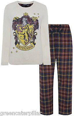 HARRY POTTER Primark GYFFINDOR HOGWARTS CREST Long Sleeve Pyjamas PJ SET Tartan