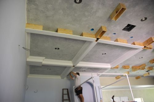Coffered ceiling ceilings and coffered ceilings for Foam coffered ceiling