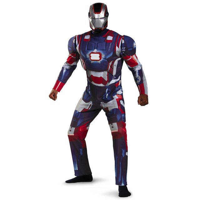 >> Click to Buy << On Sale Adult Iron Man Patriot Costume Deluxe With Full Helmet And LED On Chest Marvel Avergers Superhero Movie Fancy Dress #Affiliate