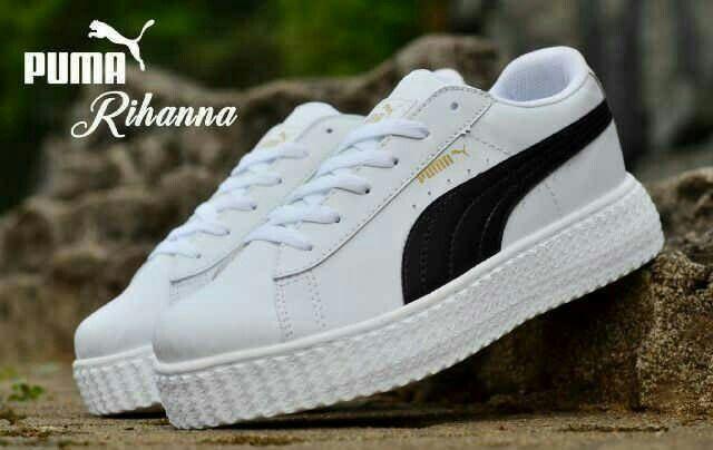 Puma Rihanna Putih Hitam Sepatu Pria