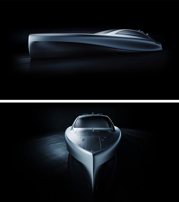 "World premiere of the Mercedes-Benz Style luxury yacht: with the ""Arrow460-Granturismo"" Mercedes-Benz is establishing a totally new boat concept."