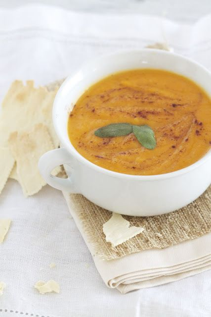 Roasted Sweet Potato Apple and Sage Soup | Savory Recipes | Pinterest