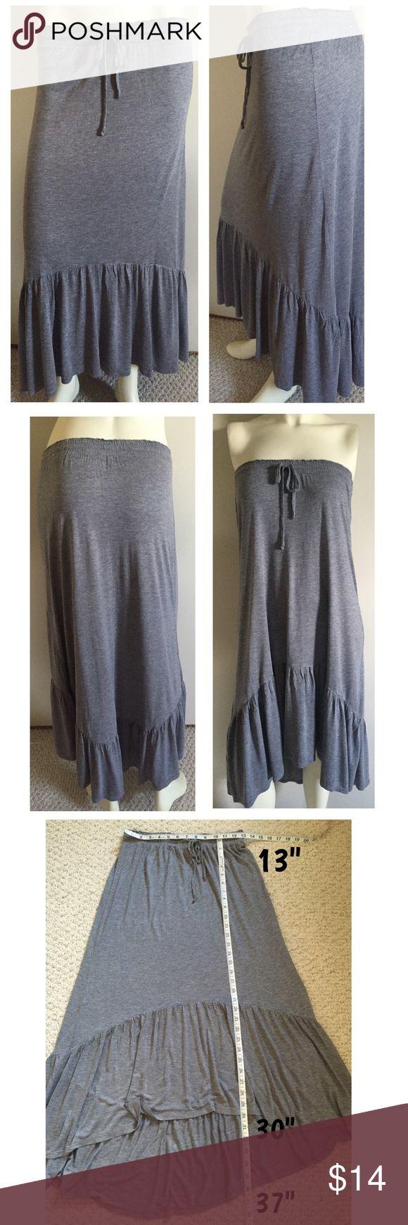 Spotted while shopping on Poshmark: Soft hi low fishtail gray jersey knit skirt JR M! #poshmark #fashion #shopping #style #Aeropostale #Dresses & Skirts