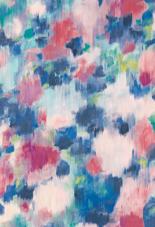 Exuberance Fuchsia / Ultramarine wallpaper by Harlequin