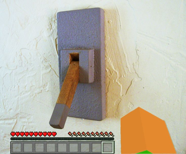 Minecraft Lever Style Light Switch Plate Cover () By FineToothGnome