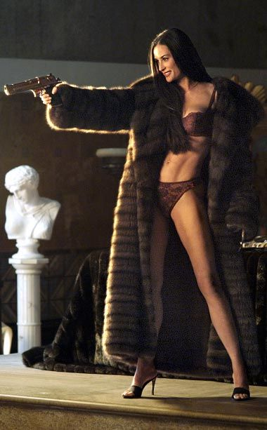 Charlie's Angels: Full Throttle, Demi Moore | Moore's bikini got most of the attention in her 2003 comeback vehicle, but she bared even more in this blink-and-you'll-miss-it lingerie moment. The then-41-year-old layered…