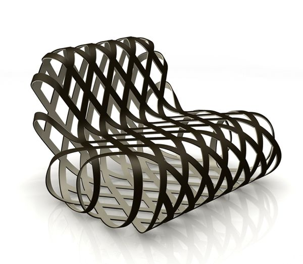 Aria chair | designed by Antonio Rodriguez for La Cividina (I would not want to be the one to dust this...)