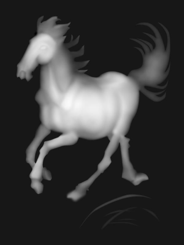 3d Grayscale Horse Bmp File Grayscale Bitmap