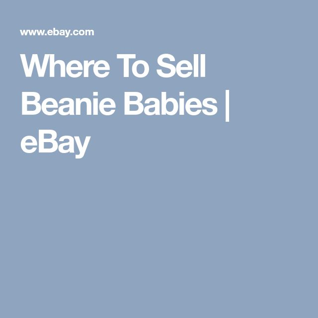 Where To Sell Beanie Babies | eBay
