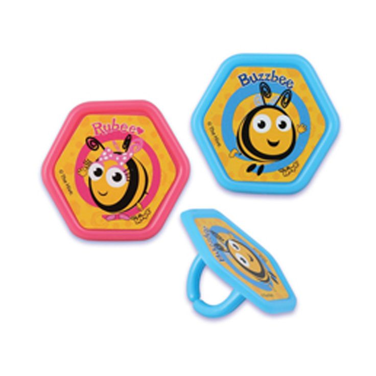 Are You Having A Buzzbee Party These Rings Feature Your Favorite Bees Great For Cupcakes Or Favors