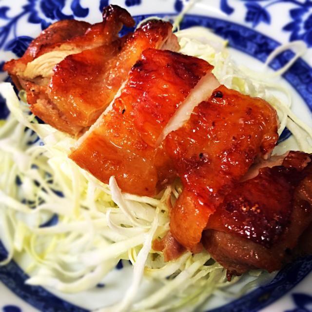 4月13日夕食メニュー ⚫︎鶏肉の照り焼き ⚫︎和風春雨サラダ ⚫︎卵の味噌汁 - 9件のもぐもぐ - 鶏肉の照り焼き by 下宿hirota&メゾンhirota
