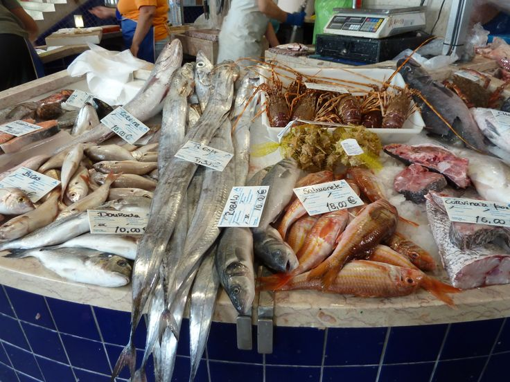 Fish at the market in Lagos, Portugal. Fish Market Mercado Municipal The Lagos fish market ...