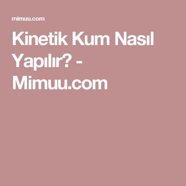 Kinetik Kum Nasıl Yapılır? - Mimuu.com