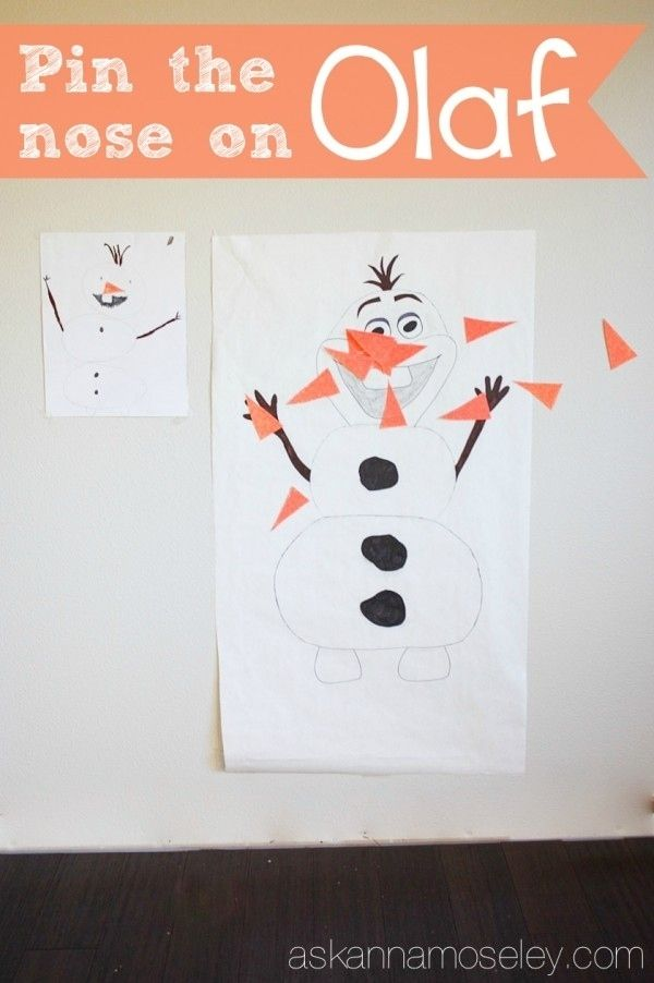 Pin the the nose on Olaf | Community Post: 14 Must-Have Ideas For ...