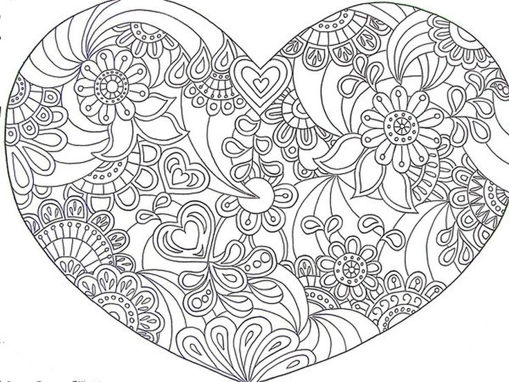 23 best images about abstract coloring pages on pinterest for Abstract heart coloring pages