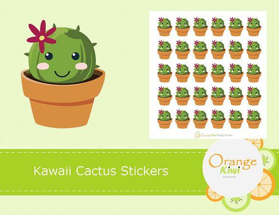 Cactus Planner Stickers Kawaii Cactus Stickers Planner