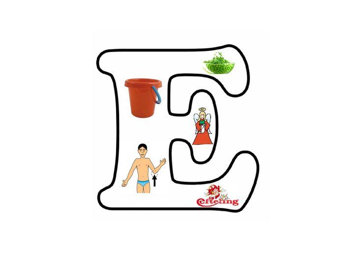 Letterpuzzel - Letter E