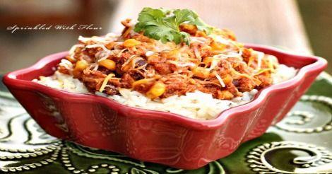 Crock Pot Chicken Taco Chili - 5 Smart Points - weight watchers recipes