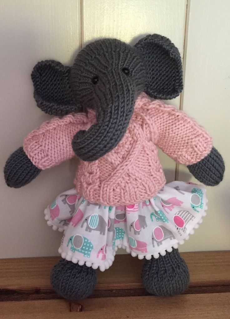 Knitted Elephant by Nodnook on Etsy