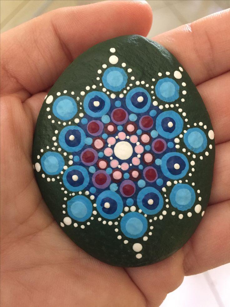 Painted stone - mandala