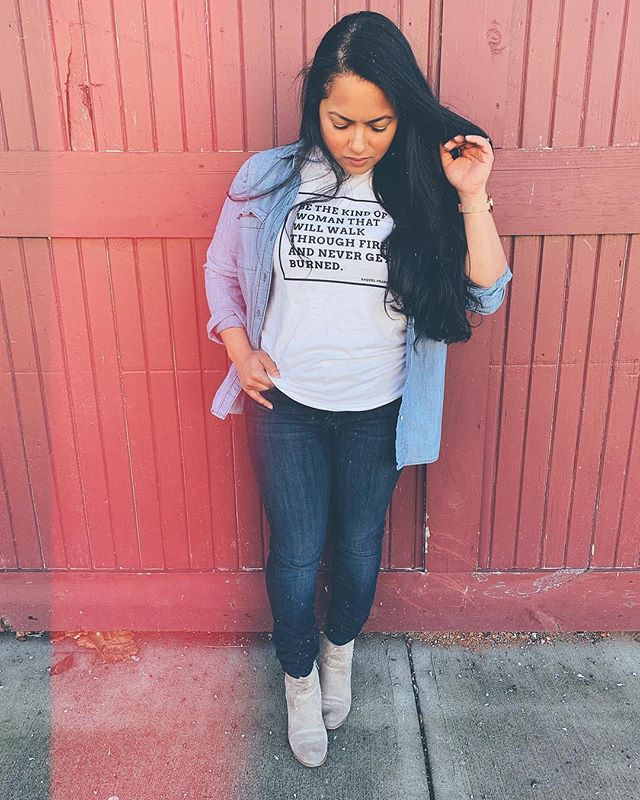 a6c97dff Bonfire (@bonfire) • Instagram photos and videos #wearbonfire moment from  @raquelfranco.poet // link in her profile to shop the shirt!