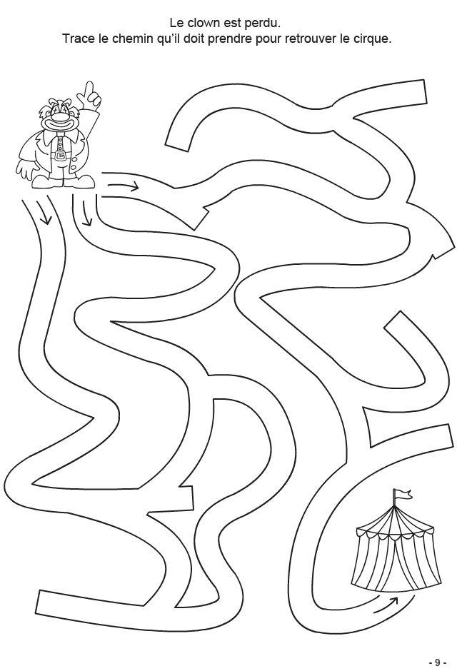 4-6 ans Fiche 9 : tracer le chemin