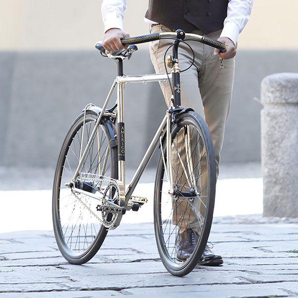 Golden vintage city bike Isidoro - AMERIGO MILANO