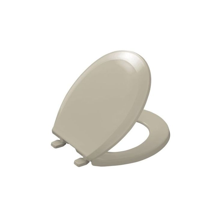 Kohler K-4662 Lustra Q2 Round Closed-Front Toilet Seat with Quick-Release and Qu Sandbar Accessory Toilet Seat Round