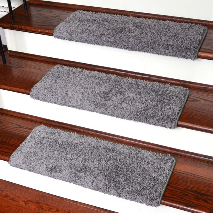Dean Modern DIY Peel And Stick Bullnose Wraparound Non Skid Carpet Stair  Treads   Eiffel