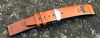 Curele de ceas, din piele, handmade. Topouzelli Straps.: Curea de ceas, handmadem T 802
