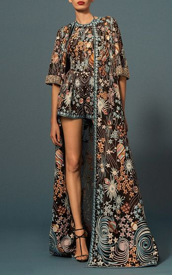 Naeem Khan Pre Fall 2016 Look 31 on Moda Operandi ~ETS #florals