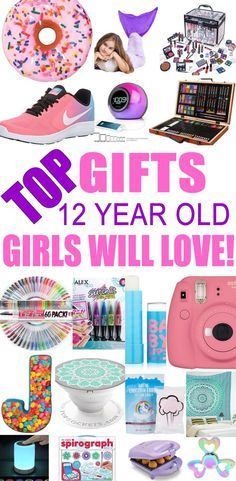 Top Gifts For 12 Year Old Girls! Best gift suggestions & presents for girls twelfth birthday or Christmas. Find the best ideas for a girls 12th bday or Christmas. Shop the best gift ideas now for tween & teens.