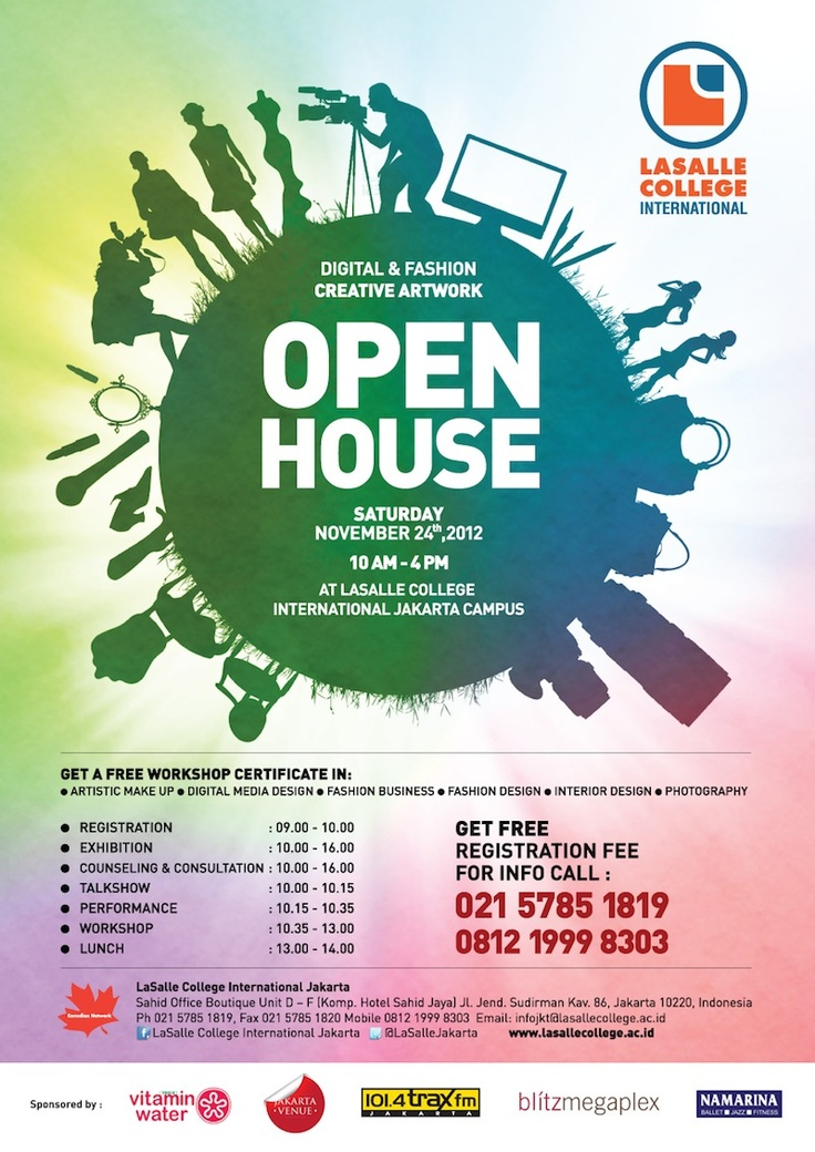 LaSalle Open House - Digital & Fashion Creative Artwork