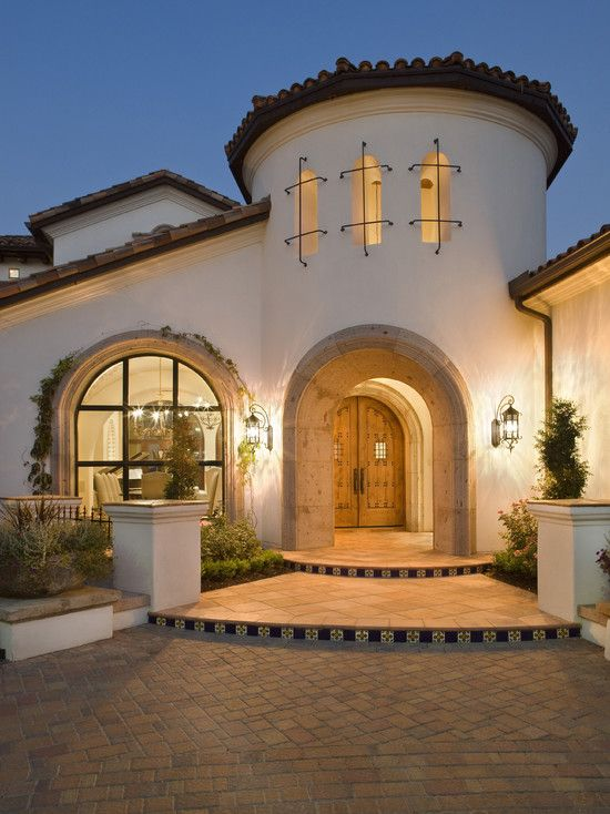 58 best exterior tuscan spanish mediterranean images for Modern spanish style homes