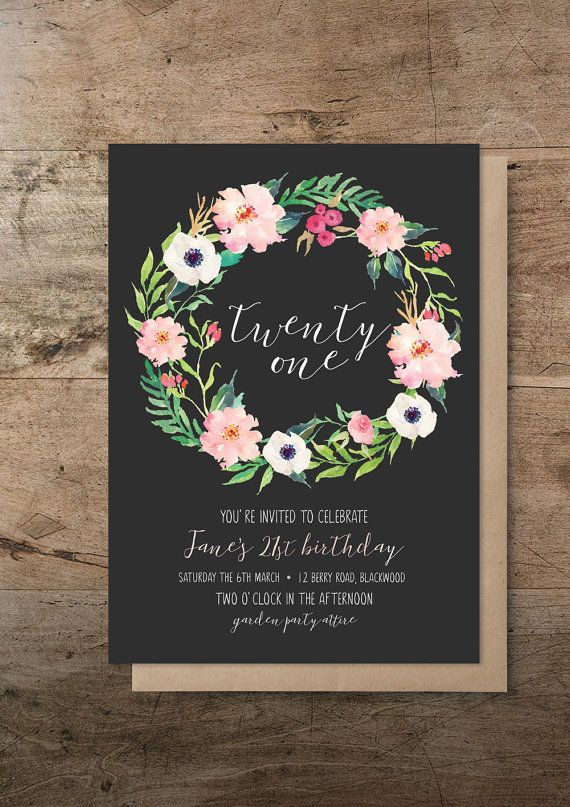 Best 25 DIY 21st birthday invitations ideas – Personalised 21st Birthday Invitations