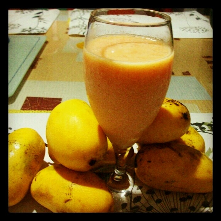 Mango Watermelon smoothie. The day I learned to shake.