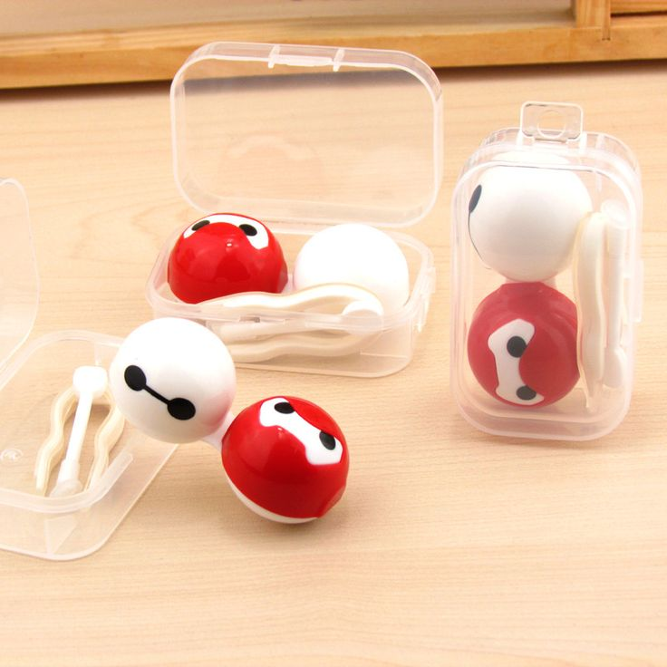 Free Shipping Hot sale Women's Men's Student's cartoon Bird Glasses Dual Case Container contact lenses mate box Baymax ob-03