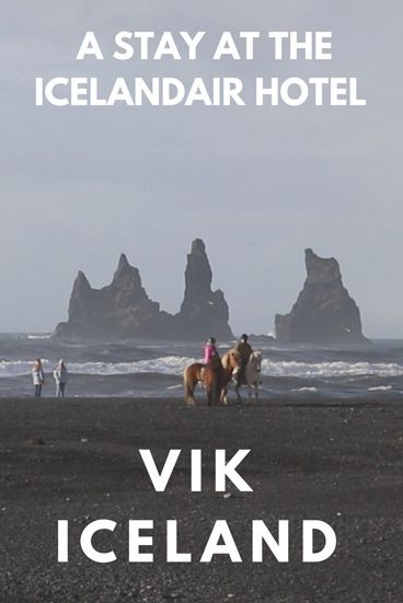 The black beach of Vik, South Iceland during our stay at the IcelandAir Hotel