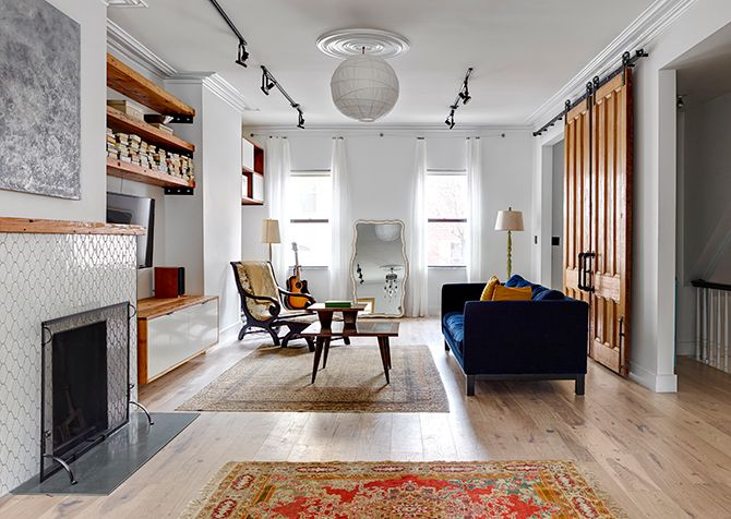 WE Design on Desire to Inspire: Living Rooms, Fireplaces, Design Styl Infatuation, Inset Shelves, Design Diy, Wood Shelves, Natural Wood, We Design, Sliding Doors