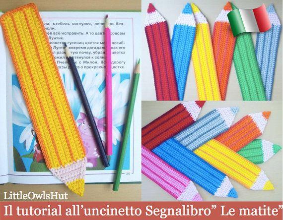 017IT crochet tutorial bookmark pencils. by LittleOwlsHutIt $1.97