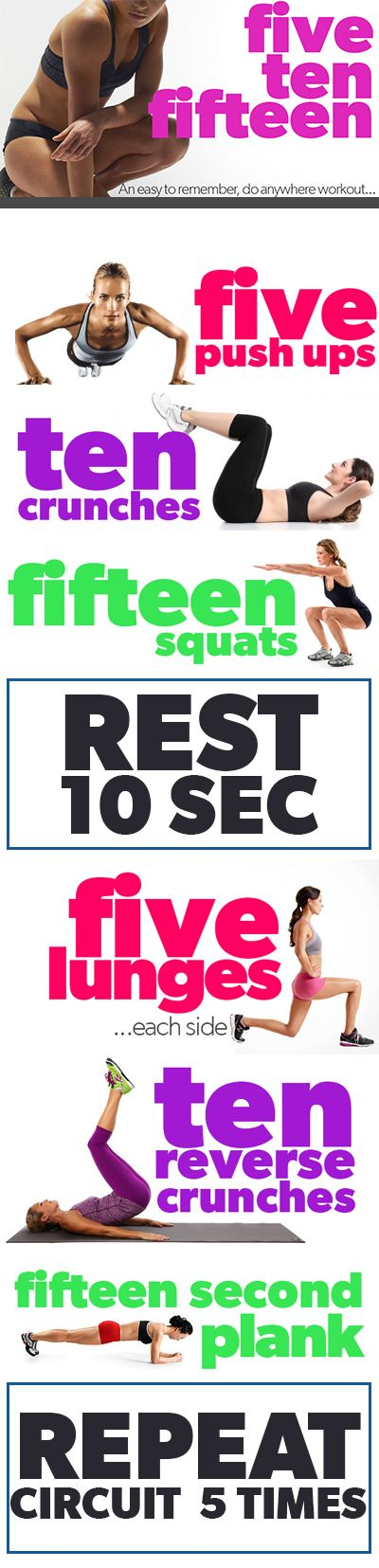 hi top sneakers south africa The FIVE TEN FIFTEEN Circuit Workout     fitness  health  slim  diet  weight  tips  workout  exercise  fit  motivation  arm
