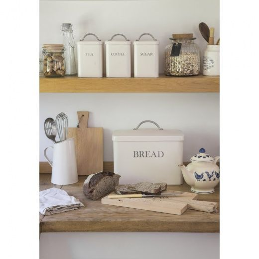 Garden Trading Bread Bin Coffee Tea Sugar Canisters Stone Set Of 4