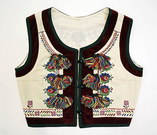 Vest Date: 1900–1981 Culture: Romanian Medium: wool, cotton